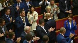 Яценюк сбежал из Верховной Рады до оглашения своей отставки